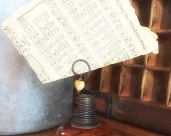 Vintage Brown Burl Door Knob Photo Holder