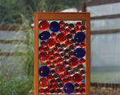 Sun Catcher Freestanding Red Purple Blue Glass Kaleidoscope Suncatcher