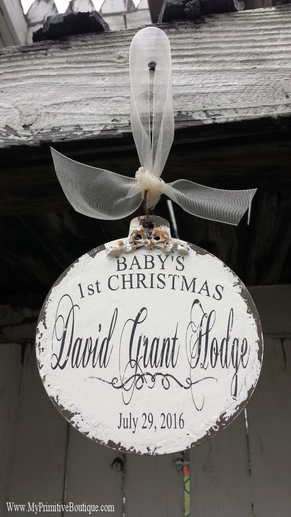 BABYS FIRST CHRISTMAS Ornament Personalized Christmas