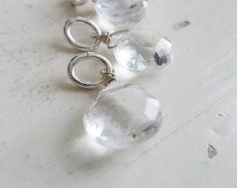 Add a Charm - Quartz Crystal Gemstone Accent Briolette