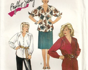 Simplicity 6677 Misses Dress, Tunic, Pants, Skirt Phyllis Sidney Vintage Sewing Pattern Size 16 Bust 38 Uncut