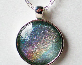 Ice Blue Holographic Nail Polish Necklace Jewelry ILNP Top Down Holographic Nail Polish Jewelry