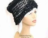 Crochet Sun Hat, Floppy Sun Hat, Floppy Hat, Womens Hat Trendy, Crochet Beanie Hat, Hemp Hat, Black Hat, Ombretta Summer Beanie Hat