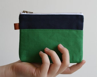 small zipper pouch -  midnight blue + alpine
