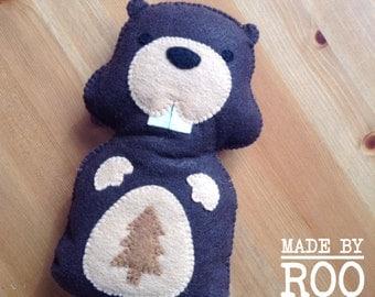 Woodland Friends Stuffie-Beaver
