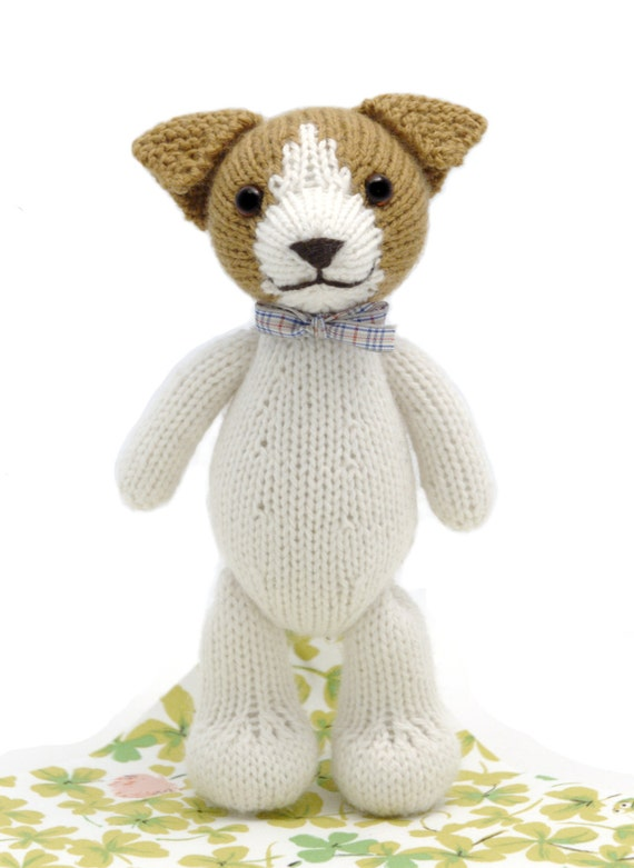 Knitting Pattern For Jack Russell : Fudge the Jack Russell Terrier Toy Knitting Pattern
