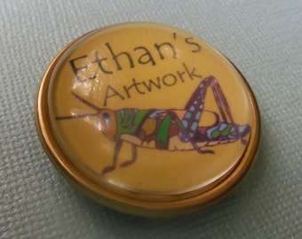 Refrigerator Personalized Magnet to Display Children's Artwork with their name