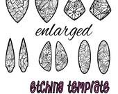 Digital Pattern for Etching Earrings Download