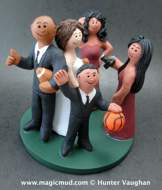 blended family wedding cake toppers mixed race family wedding cake topper wedding caketopper with 11916
