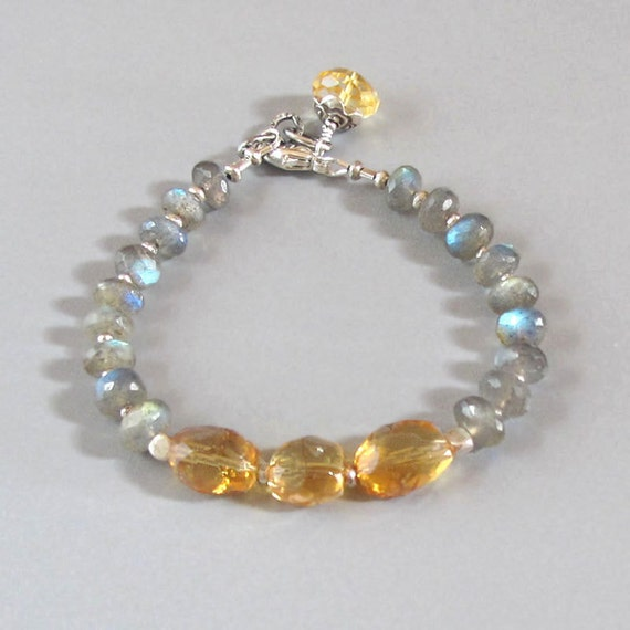Labradorite citrine sterling silver bracelet djstrang schiller for Cottage jewelry evanston review