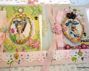 Marie Antoinette Greeting Card Set In A Folder Stationary Blank Card Set