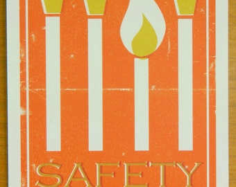 Vintage Style Packaging Print 15x20cm - Safety Matches