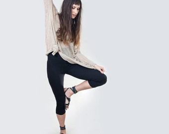 Black Cropped Leggings • Women's Legging • High Waist or Low Waist • Petite & Tall Length • Loft 415 Clothing (No. 36)