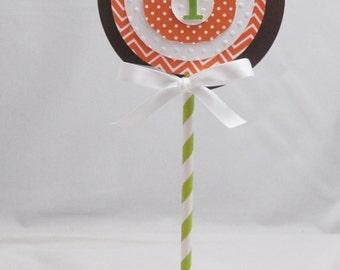 Little Pumpkin 1st Birthday Smash Cake Topper- Baby Boy