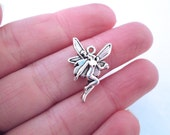 Silver Plated Fairy Charms, Pick Your Amount