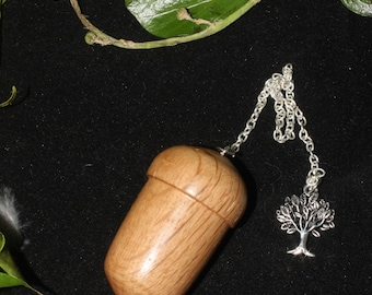 Hand-turned English Oak Wood Acorn Pendulum for divination - Pagan. Wicca, Witchcraft
