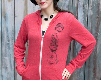 Unique Gift For Her, Sweatshirt For Her, Sweatshirt Plus Size, Trendy, Hedgehog Gift