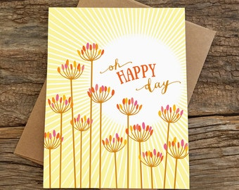 wedding card / oh happy day
