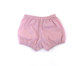 dusty pink cotton baby / toddler bloomers