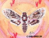 Death Moth - Poster Print 11x14
