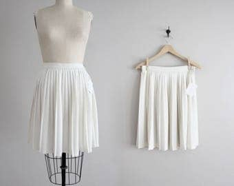 pleated mini skirt | white pleated skirt | short white skirt