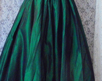 Green taffeta dress vintage  emerald ballgown  cocktail evening formal party Victorian small from vintage opulence on Etsy