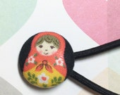 Happy Matryoshka Russian Doll Ponytail Hair Band, Russian Doll Hair Accessories, Matryoshka Doll, Doll Ponytail Band, Nesting Doll Hair Band