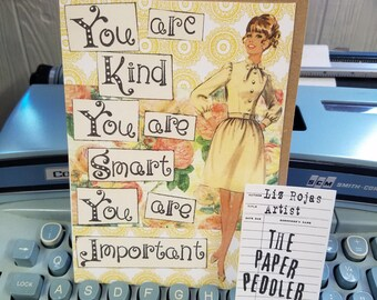 Vintage Greeting Hand crafted Card Southern Girl inspired by The Help