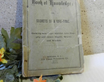 Book of Knowledge or Secrets of a Life-Time pamphlet