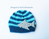 Knit SHARK Kids Beanie, shark kids apparel, shark Hat, Quality Preppy Kids accessories, Boys clothing, boy hats, baby shower shark theme hat