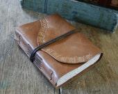 "Leather Journal - Jane Eyre / Charlotte Bronte: ""I am no bird, and no net ensnares me..."" handmade handbound (320 pgs)"