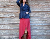 ORGANIC Super Cowl Perfect Pockets Shirt - ( light hemp and organic cotton knit ) - organic hemp dress