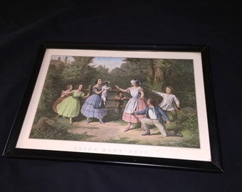 Vintage Currier and Ives Blind Man's Bluff