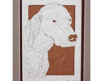 Vizsla Papercutting- Handcut Original