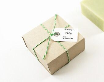 Kraft Boxed Bella Blossom Soap | Shea Butter Soap, Luxury Gift Soap, Floral Soap | Bella Blossom Shea Butter Soap in Handmade Kraft Box