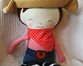 Brunette Rodeo Cowboy Doll