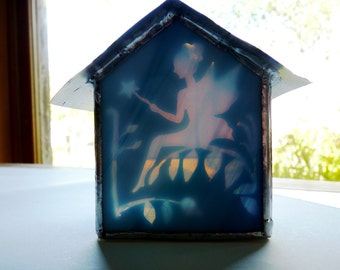 Magic Fairy House - Stained Glass Tea Light Candle Holder