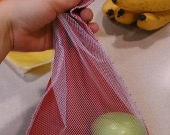 3pc Medium Size Net and Nylon Bag Set for produce bulk food snacks gift or favor bags