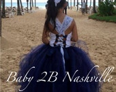 Navy Dress Lace Dress Flo...