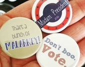 Set of 3 DNC Democratic National Convention election buttons