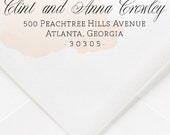 Calligraphy Small Return Address Rubber Stamp