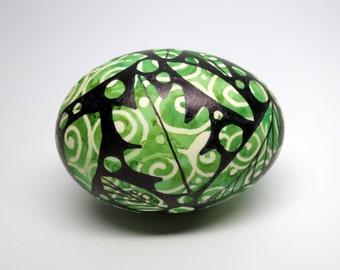 Hand Painted Egg Summer Swirls