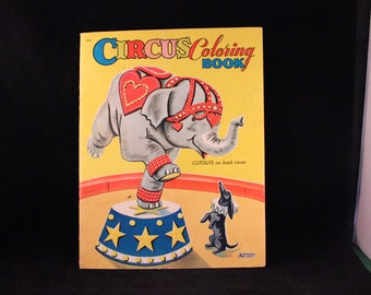 Vintage Large Circus Coloring Book