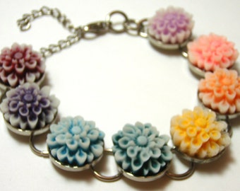 CLEARANCE Rainbow Chrysanthemum Bracelet