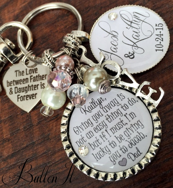 Wedding gift for Bride from dad daughter wedding gift by buttonit