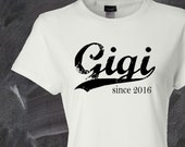 Gigi since . custom womens fitted tee
