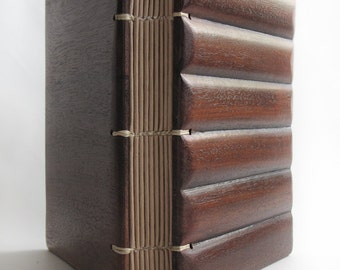 Wood book Guest book Art book unusual