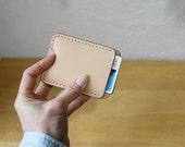 Push Up Pocket Wallet // Handstitched Vegetable Tanned Leather