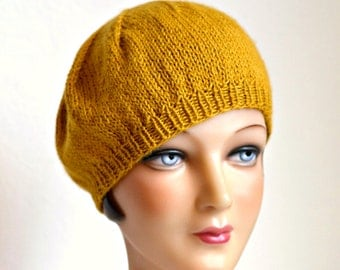 Women's Knit Beret - Hand Knitted Beret - READY TO SHIP via 3 Day Priority