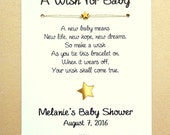 35 A Wish for Baby - Little Star Theme - Wish Bracelet Party Favor Custom Made for You